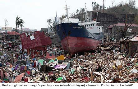 Effects of global warming? Super Typhoon Yolanda's (Haiyan)