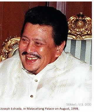 Joseph Estrada, in Malaca�ang Palace on August, 1998