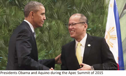 Presidents Obama and Aquino in Malaca�ang during the Apec Summit of 2015