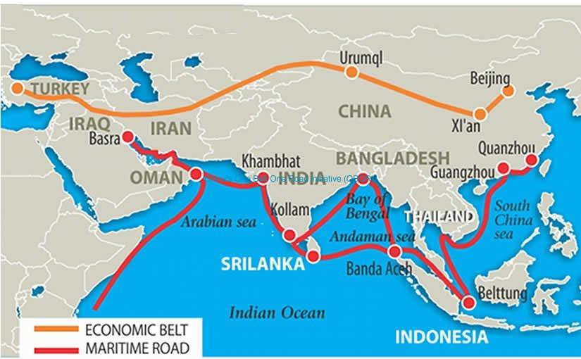 China's One Belt One Road initiative (OBOR)