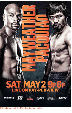 Official poster of the May 2nd boxing match