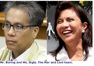 Mr. Boring and Ms Sigla. The Mar and Leni team